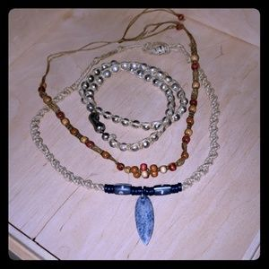 Macrame Beaded Necklaces